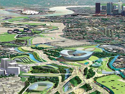 london olympic village drawing