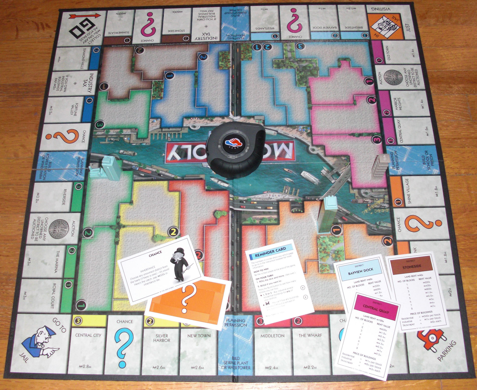 monopoly city game board