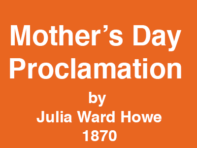 Mother's Day Proclamation