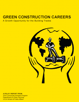 First panel: Green Construction Careers