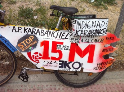 Anti-Eviction Motorbike, Madrid 2012